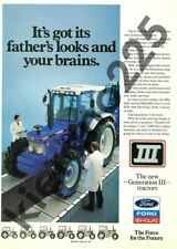 A3 Vintage Ford 6810 7810 8210 New Holland Advertising Tractor Brochure Poster