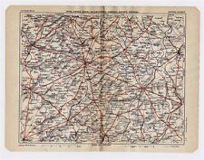 1930 ORIGINAL VINTAGE MAP OF VICINITY OF ARRAS VALENCIENNES CAMBRAI FRANCE