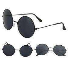 Retro 90s Style John Lennon Sunglasses Round Grunge Steampunk Black