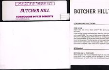 BUTCHER HILL BY MASTERTRONIC  DISK AND MANUAL COMMODORE 64/128 Tested Runs