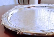 Large Art Nouveau Silver Plated Ripponlea Tray by Rodd