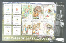 Beatrix Potter min sheet-Solomon Islands-mnh Literature-Peter Rabbit