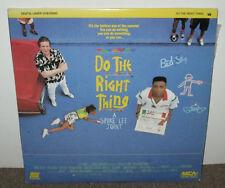 DO THE RIGHT THING, 2 video Laserdiscs, 1990, VG+, Spike Lee, John Turturro