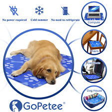 Gopetee Pet Cooling Gel Mat Bed Dog Cat Summer Heat Relief Non Toxic Cushion Pad
