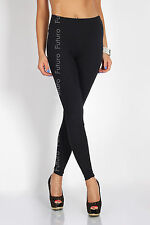 Full Length Black Leggings High Waist Genuine Cotton and Lycra All Sizes LWP