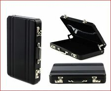GIFTS FOR MEN BLACK Mini Briefcase Suitcase Business Card Holder Wallet Office
