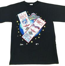 Vtg 1992 World Series Men's T-Shirt Atlanta Braves Blue Jays Ticket USA Tee Sz M
