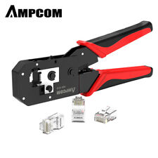 AMPCOM RJ45 Crimping Tool Ethernet Cable LAN Cable Crimper Cutter Stripper Plier