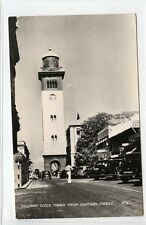 (Gq550-407) Real Photo of Clock Tower, Ceylon, Sri Lanka c1940 Unused VG-EX