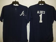 0217 Boys Youth Atlanta Braves OZZIE ALBIES Pullover Baseball JERSEY New BLUE