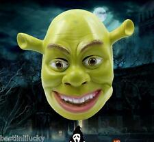 Shrek latex Mask Ogre Latex Full Head Fancy Dress Costume Film Star Cosplay Prop