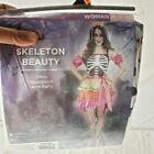Halloween Costume Zombie Skeleton Beauty Womans Size Medium 8-10 New c1