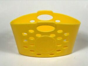 RARE 2010 Mattel BARBIE Spin to Clean Yellow Plastic Laundry Basket