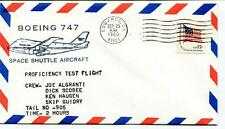 1980 Boeing 747 Space Shuttle Aircraft Algranti Scobee Haugen Guidry Edwards USA