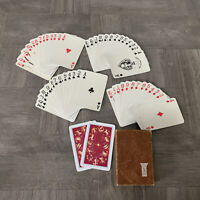 Vintage Kem Red Deck Zodiac Astrology Playing Cards Cardboard Box Case