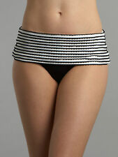 Seafolly Femme Noir & Blanc Sorrento contournés Pantalon Taille UK 8 BNWT RRP £ 46