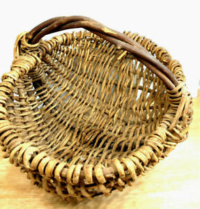 Vintage Hand Crafted Grapevine Willow Basket Flower Farmhouse Boho Country Decor
