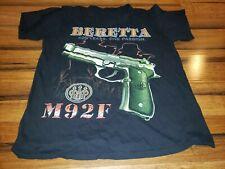 Rare Beretta M92F  T Shirt Pistols Guns Hip Hop Rap Vintage large print