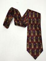 Jerry Garcia mens Tie Necktie red brown purple northern lights collection 15