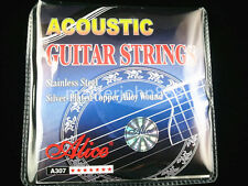 3 Sets of Alice A307-SL Acoustic Guitar Strings Silver-Plated Copper Alloy Wound