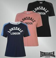 Ladies Lonsdale Loose Fit Comfortable Crew Casual Long Line T Shirt Sizes 8-18