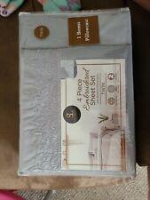 Spirit Linen Home 4 Piece Embroidered 4 Piece Sheet Set