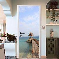 3D Sea Pavilion 76 Door Wall Mural Photo Wall Sticker Decal Wall AJ WALLPAPER UK