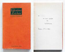 Valentino Zeichen Gibilterra Autografato Mondadori Il nuovo specchio 1991 1 ediz