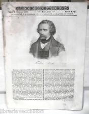 ANTICA STAMPA INCISIONE 1843 Frederic Soulie La notte Kenilvvorth Pietro Vidal