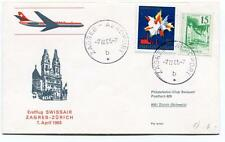 FFC 1965 Swissair First Flight Zagreb Zurich Schweiz Jugoslavija