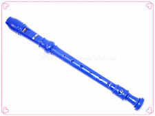 Woodnote New 8 Holes Solid Blue Soprano Recorder-Baroque fingering+Chart