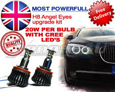 XENON WHITE BMW LED Angel Eyes Marker Upgrade Lampadine da 20W H8 CREE E60 LCI