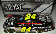 Jeff Gordon 2011 Lionel #24 Drive to End Hunger Brushed Metal 1/24 FREE SHIP!