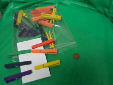 Colored clothespins in 6 colors-bag of 36- 75% off