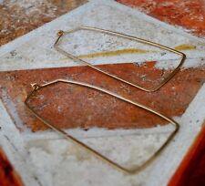 14K Gold Filled Hand Hammered Square Huggie Hoops