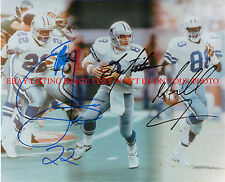 TROY AIKMAN EMMITT SMITH AND MICHAEL IRVIN SIGNED 8X10 RP PHOTO DALLAS COWBOYS