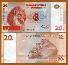 Congo D.R., 20 Francs 1997 P-88 (88A) UNC > Replacement