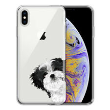 """For Apple iPhone Xs Max 6.5"""" Dog Cat Ultra Thin Clear Tpu Silicone Case Cover"""