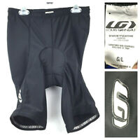 Louis Garneau Womens Large Black Compression Padded Bicycle Cycling Shorts, USA