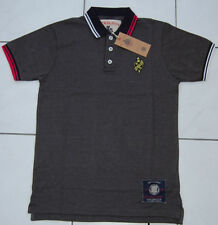 "Nickelson new mens charcoal marl polo shirt size S 34-36"" chest"