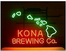 "New Kona Brewing Company Hawaii Pub Bar Neon Sign 17""x14"""