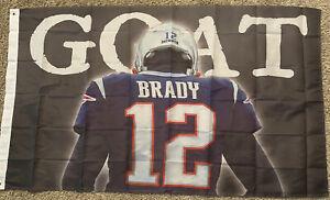 Tampa Bay Buccaneers Tom Brady GOAT #12 NFL Flag 3x5 ft Sports Banner Patriots