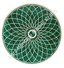 "42""x42"" Inch Buy Chirstmas Gifts Green Marble Dining Table Top Malachite Arts"