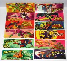 RARE Gum 1979 DC Comics Mini Sticker cards SET Batman Superman Joker Robin