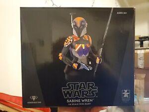 Gentle Giant 2021 Star Wars Rebels Sabine Wren 1/6 Mini Bust 1167/3000