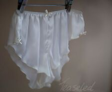 French Knickers Silky Satin panties Bridal Bride Sexy Ivory or white lingerie