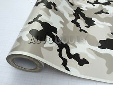 """24"""" x 60"""" Snow Camo Camouflage Vinyl Film Wrap Decal Air Bubble Free 2ft x 5ft"""