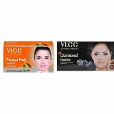 VLCC Papaya Fruit & Diamond Facial Kit For Natural Glow & Remove Pimple- 60g+60g