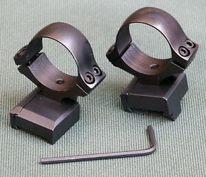 CZ550 Magnum rifle scope mounts, 30mm rings and bases, STEEL MATTE finish.