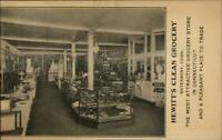 Waterbury CT Hewitt's Clean Grocery Store c1910 Postcard